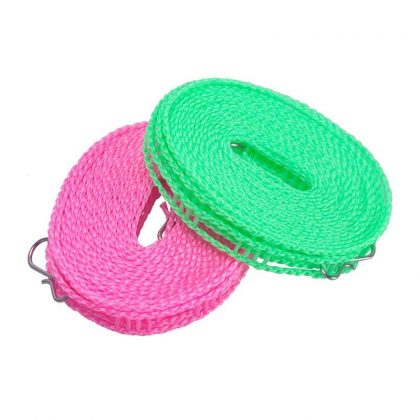 Set of 02 Broad Clothesline Cloth Drying Rope 5meter Long