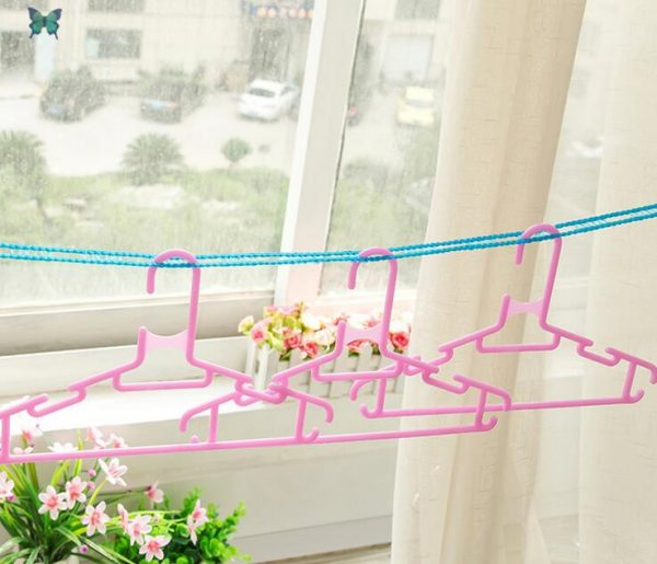 Sabmall Cloth Drying Rope 5 Meter with 8 Clips Set of 01