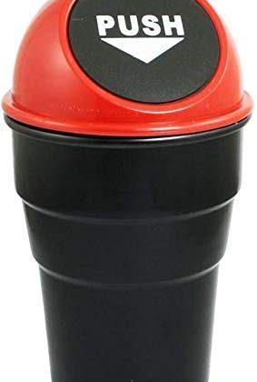 Garbage Can Trash Bin Small Mini Car Dustbin for Car Office Home