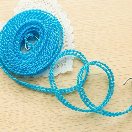 Sabmall Broad Clothesline Cloth Drying Rope 5m