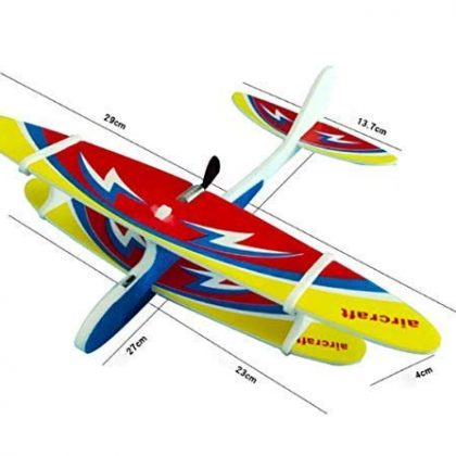 Chrgable Motor Flying Glider Plane Foam Airplane Model Toys Game Glider Fall-Resistant Foam Airplane Toy for Kids