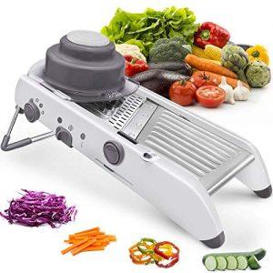 Multi-functional Slicer Grater Chopper Sabmall Professional Adjustable Mandoline Vegetable Premium heavy duty non slip for fruits and vegetables
