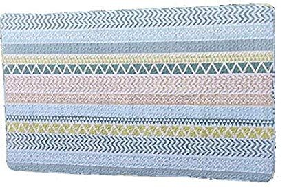 Sabmall Quilted Korean Style Anti Slip Floor Mat Carpet| Kaleen| Rug|Quilt|Chatai|Galicha Blue Color Standard Size