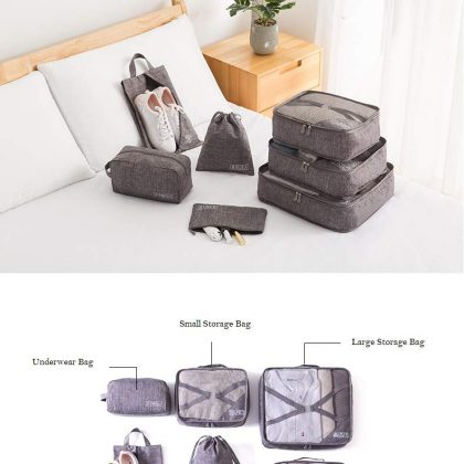Sabmall Packing Cubes/Travel Pouch/Travel Organizer Set of 07 Bags